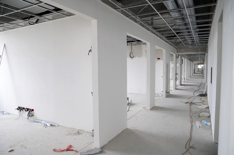 Build out is ideal when a space has to be remodeled or renovated