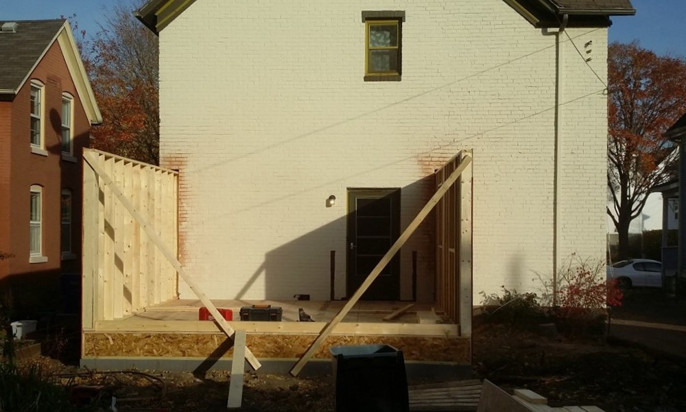 starting to build addition to house