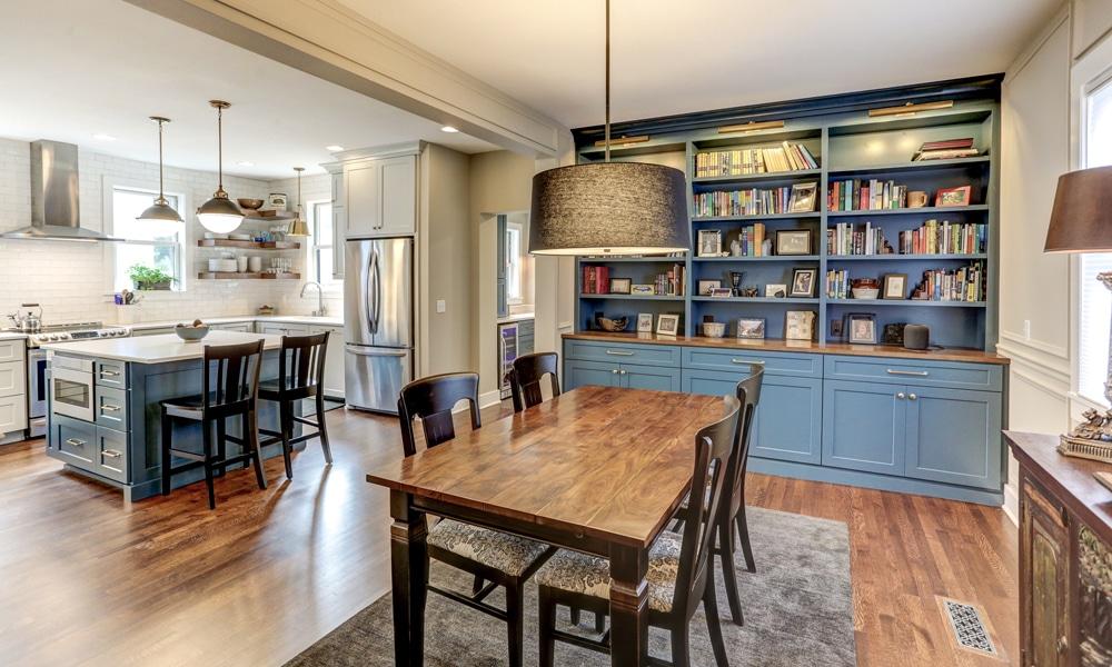 kitchen with two doorways